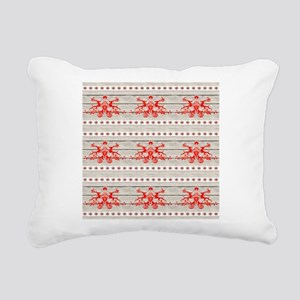 nordic christmas pattern Rectangular Canvas Pillow