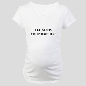 Personalized Eat Sleep Maternity T-Shirt