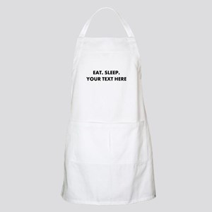 Personalized Eat Sleep Light Apron