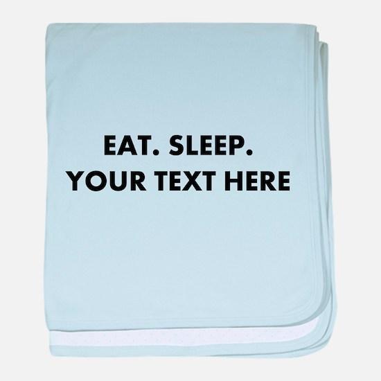 Personalized Eat Sleep baby blanket