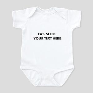 Personalized Eat Sleep Baby Light Bodysuit