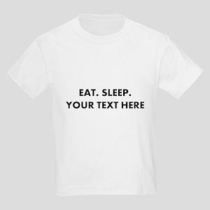Personalized Eat Sleep Kids Light T-Shirt