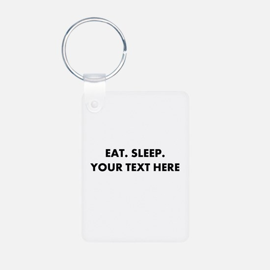 Personalized Eat Sleep Keychains