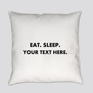 Personalized Eat Sleep Everyday Pillow
