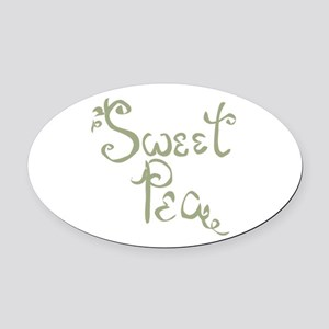 Sweet Pea Fun Quote Endearment Oval Car Magnet