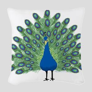 Peacock Woven Throw Pillow