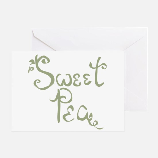 Sweet Pea Fun Quote Endearment Greeting Cards
