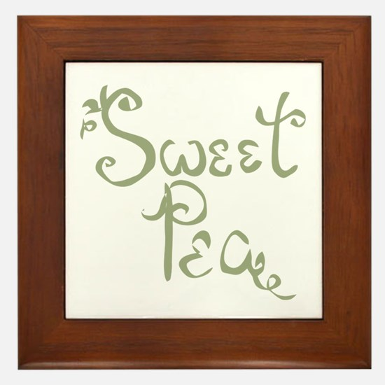 Sweet Pea Fun Quote Endearment Framed Tile