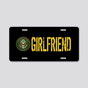 U.S. Army: Girlfriend Aluminum License Plate