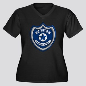 Police Badge Plus Size T-Shirt