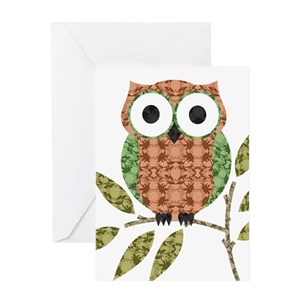 Cute owl greeting cards cafepress m4hsunfo