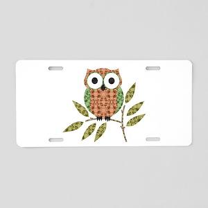 Cute Hoot Owl Aluminum License Plate