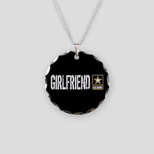 U.S. Army: Girlfriend (Black Necklace Circle Charm