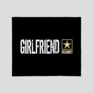 U.S. Army: Girlfriend (Black) Throw Blanket