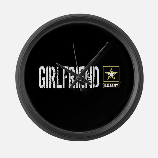 U.S. Army: Girlfriend (Black) Large Wall Clock