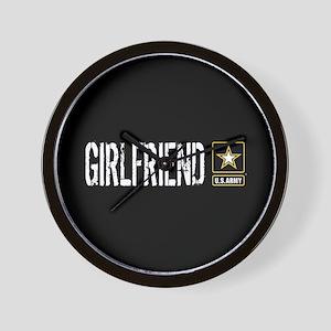 U.S. Army: Girlfriend (Black) Wall Clock