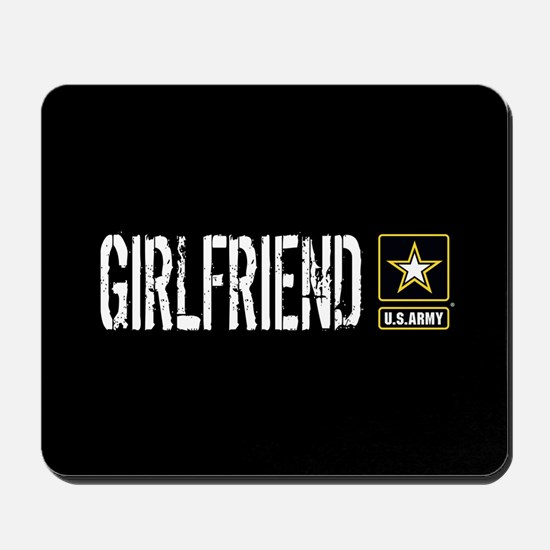 U.S. Army: Girlfriend (Black) Mousepad