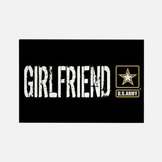 U.S. Army: Girlfriend (Black) Rectangle Magnet