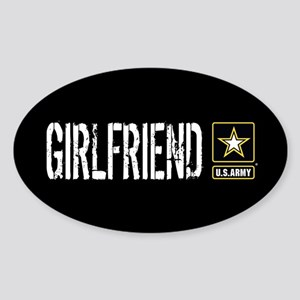 U.S. Army: Girlfriend (Black) Sticker (Oval)