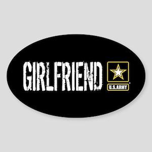 U.S. Army: Girlfriend (Black) Sticker (Oval)