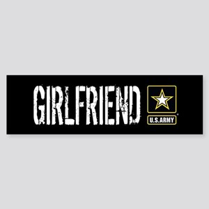 U.S. Army: Girlfriend (Black) Sticker (Bumper)