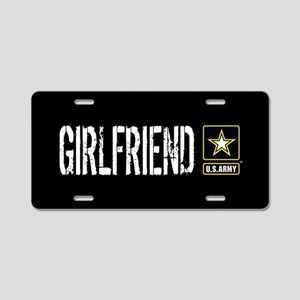 U.S. Army: Girlfriend (Blac Aluminum License Plate
