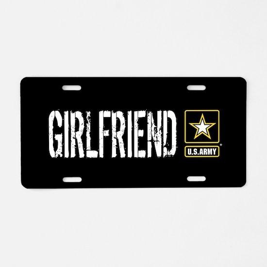 U.S. Army: Girlfriend (Blac Aluminum License Plate