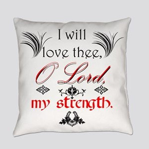 Psalm 18:1 Quote 1 Everyday Pillow