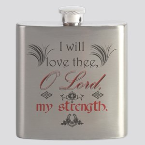 Psalm 18:1 Quote 1 Flask