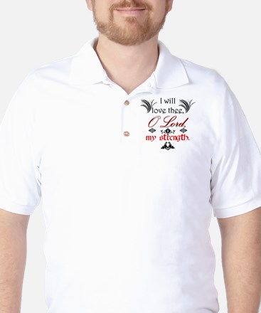 Psalm 18:1 Quote 1 Golf Shirt