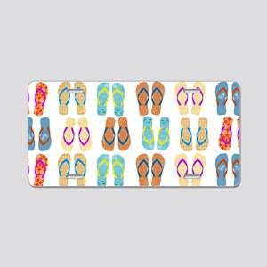 Beach Flip Flops Aluminum License Plate