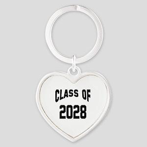 Class of 2028 Heart Keychain
