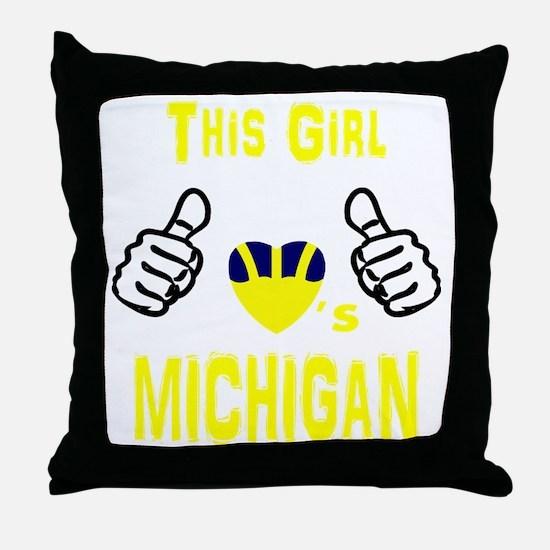 Unique College football Throw Pillow