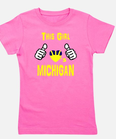 Unique College football Girl's Tee