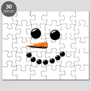 Happy Snowman Face Puzzle