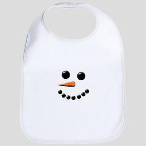 Happy Snowman Face Bib