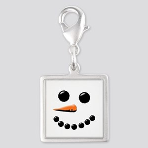 Happy Snowman Face Charms