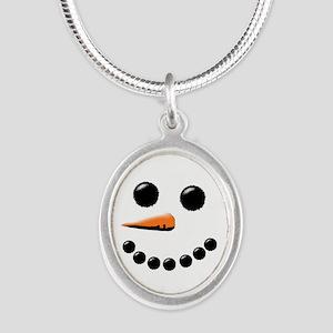 Happy Snowman Face Necklaces