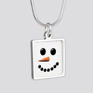 Happy Snowman Face Necklaces