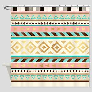 Trendy Tribal Shower Curtain