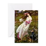 Windflowers / Doberman Greeting Card