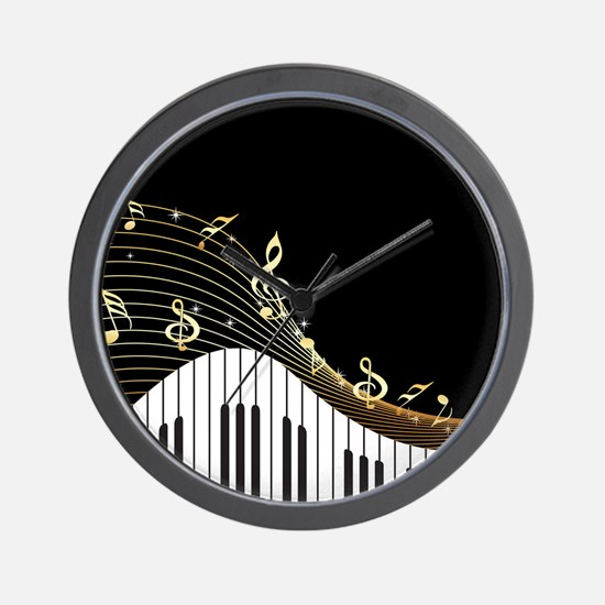 Ivory Keys Piano Music Wall Clock