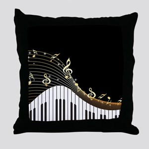 Ivory Keys Piano Music Throw Pillow