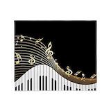 Piano keys Fleece Blankets