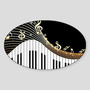 Ivory Keys Piano Music Sticker