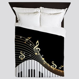 Ivory Keys Piano Music Queen Duvet