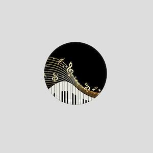 Ivory Keys Piano Music Mini Button