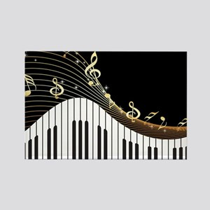 Ivory Keys Piano Music Magnets