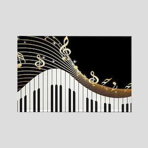 Ivory Keys Piano Music Magnets