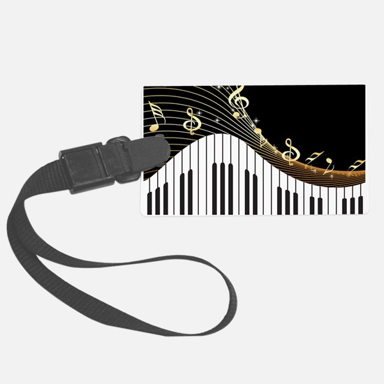 Ivory Keys Piano Music Luggage Tag